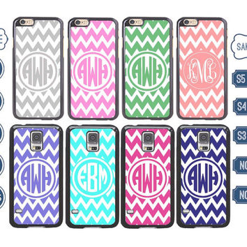 Personalized chevron iPhone 6 case , Monogram iPhone 5 case , custom Samsung galaxy note 3 case , customized Samsung S4 ,  4S Samsung s5 C5