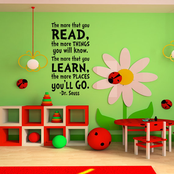 Childrens wall art dr seuss childrens from happy wallz dr for Dr seuss wall mural