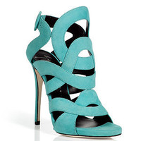 Giuseppe Zanotti - Aqua Suede Swirl Sandals