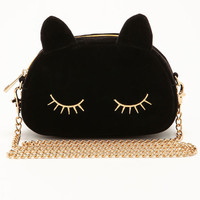 MIDNIGHT BLACK CAT CLUTCH