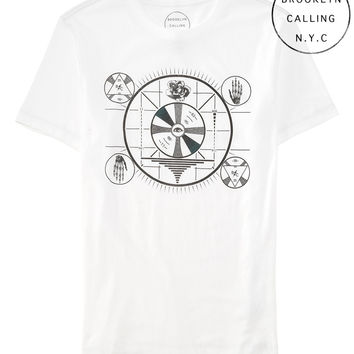 Aeropostale Brooklyn Calling Eye Graphic T - Bleach,