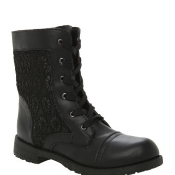 Black Lace Ankle Bootie