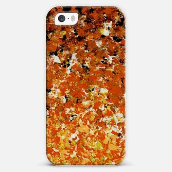 ALL HALLOW'S OMBRE Colorful Bold Orange Black Red Yellow Spooky Halloween Autumn Fall Abstract Acrylic Textural Painting Fine Art iPhone 5s case by Ebi Emporium | Casetify