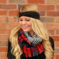 Plaids-Tooth Infinity Scarf · Haute Pink