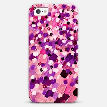 SWEPT AWAY 6 - Pretty Girlie Pastel Pink Purple Lavender Lilac White Elegant Polka Dots Lovely Feminine Abstract Ocean Waves Splash Painting iPhone 5s case by Ebi Emporium | Casetify