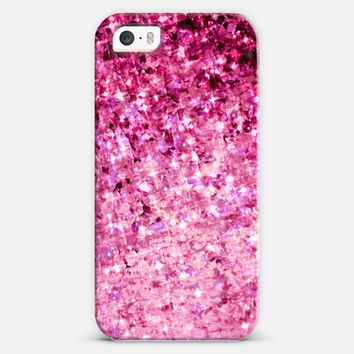 ROMANCE ME - Elegant Modern Chic Feminine Abstract Pretty in Pink Magenta Raspberry Radiant Orchid Fuschia Colorful Sparkle Stars Love Girlie Painting iPhone 5s case by Ebi Emporium | Casetify