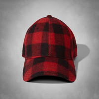 Woolrich with A&F Buffalo Checked Wool Baseball Cap