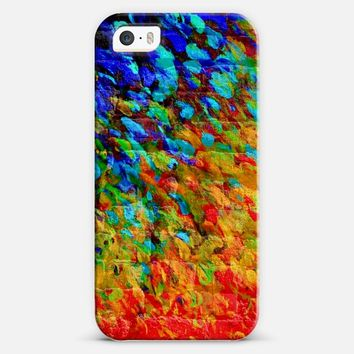 COLLISION COURSE - Vibrnt Rainbow Abstrac Ombre Colorful Whimsical Urban Building Bricks Ocean Waves Splash Painting iPhone 5s case by Ebi Emporium | Casetify