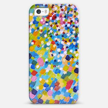 Swept Away 1 - Bold Colorful Abstract Ocean Beach Waves Splash Painting iPhone 5s case by Ebi Emporium | Casetify