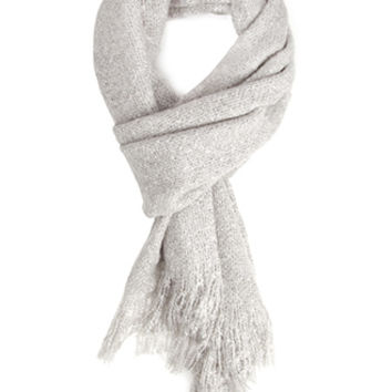 Fuzzy Woven Oblong Scarf