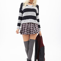 Textured Knit Striped Sweater