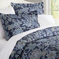 Reza Palampore Duvet Cover & Sham - Midnight Blue