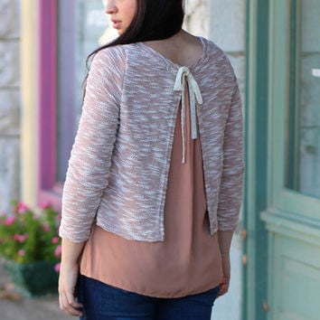 Contrasting Layers Top {Mocha + Cream}