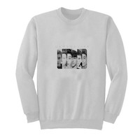 o2l sweater White Sweatshirt Crewneck Men or Women for Unisex Size with variant colour
