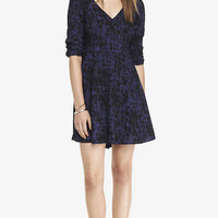 RAYON V-NECK DRESS from EXPRESS