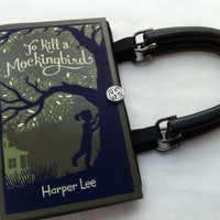To Kill A Mockingbird Book Purse - Midnight Black Lining
