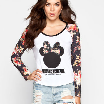 NEFF Disney Collection Floral Bow Womens Tee