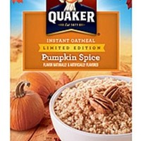 Quaker Pumpkin Spice Limited Edition Instant Oatmeal 8 Ct (Pack of 2)