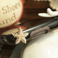 Star Fish Phone Earring (Dust Plug) | LilyFair Jewelry