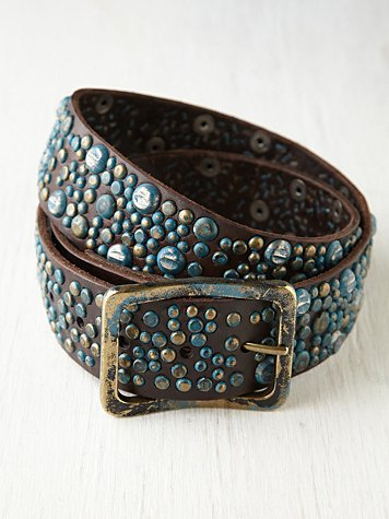Free People Weathered Stud Belt