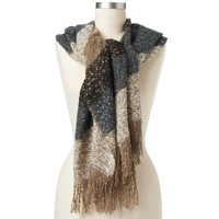 Mudd Woven Striped Oblong Scarf
