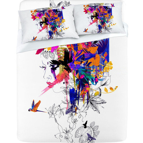 DENY Designs Home Accessories | Holly Sharpe Tropical Girl Colourway Sheet Set