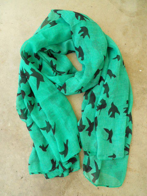 Sparrows in Flight Verte Scarf - $17.10 : Vintage Inspired Clothing & Affordable Summer Dresses, deloom | Modern. Vintage. Crafted.