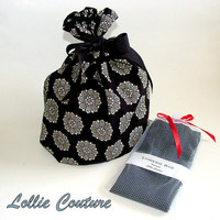 Lingerie Bag - Bridesmaid sets - Black and White - Travel Lingerie Bag