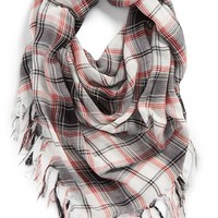 David & Young Plaid Square Scarf (Juniors) | Nordstrom