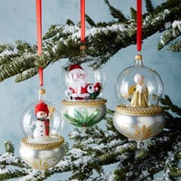 De Carlini Globe Christmas Ornaments