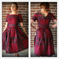 Vintage 1960&#x27;s Calico Vicky Vaughn Dress with tags.