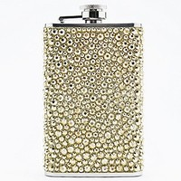 Gem Hip Flask in Gold - Urban Outfitters
