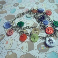 Button bracelet Multi-coloured