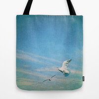 flying into blue II Tote Bag by Steffi ~ findsFUNDSTUECKE
