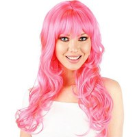 Natalie B Pink Premium Wig - Party City