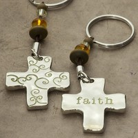 Faith  Token  Keychain  From  Natural  Life