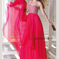 Sweetheart Beaded Accent Chiffon Prom Dress By B'Dazzle 35696