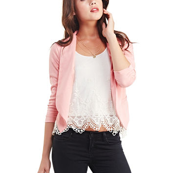 Ruched Sleeve Open Blazer | Wet Seal