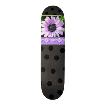 Lavender and Lace skateboard