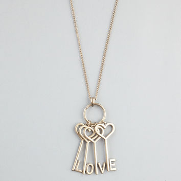 FULL TILT Love Key Necklace 229397621 | Necklaces