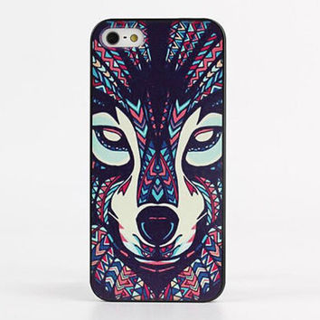 Trippy Aztec Wolf Hard Case for iPhone 5 / 5S / 6 / 6 Plus