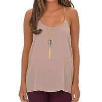 Summertime Madness Tank, Mocha :: NEW ARRIVALS :: The Blue Door Boutique