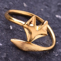 Wrap Around Fox Ring - Gold or Silver – H.C.B.