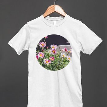 Pink Daisies | Fitted T-shirt | Skreened