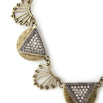Retro Style Statement Necklace - Antiqued Brass – H.C.B.
