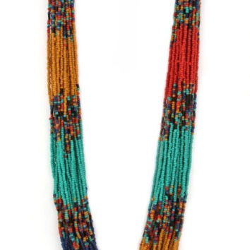Multi Strand Seed Bead Necklace - Multi – H.C.B.