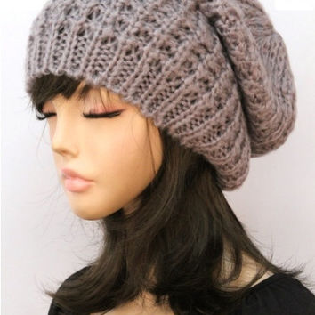 Chunky Knit Beanie Hat - Black, Cream, Gray or Navy – H.C.B.