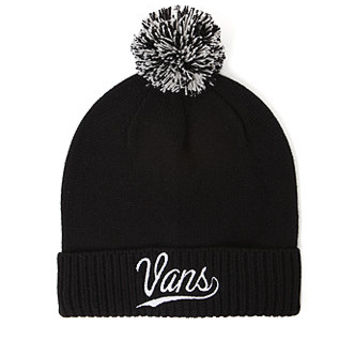 Vans Clubhouse Pom Beanie - Womens Hat - Black - One