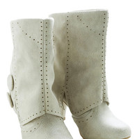 Follow in Your Footsteps Boot in Cream - Short | Mod Retro Vintage Boots | ModCloth.com
