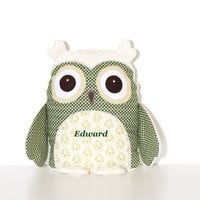 Christmas  Owl Pillow, Holiday Pllow, Decorative Pillow, Christmas Decoration
